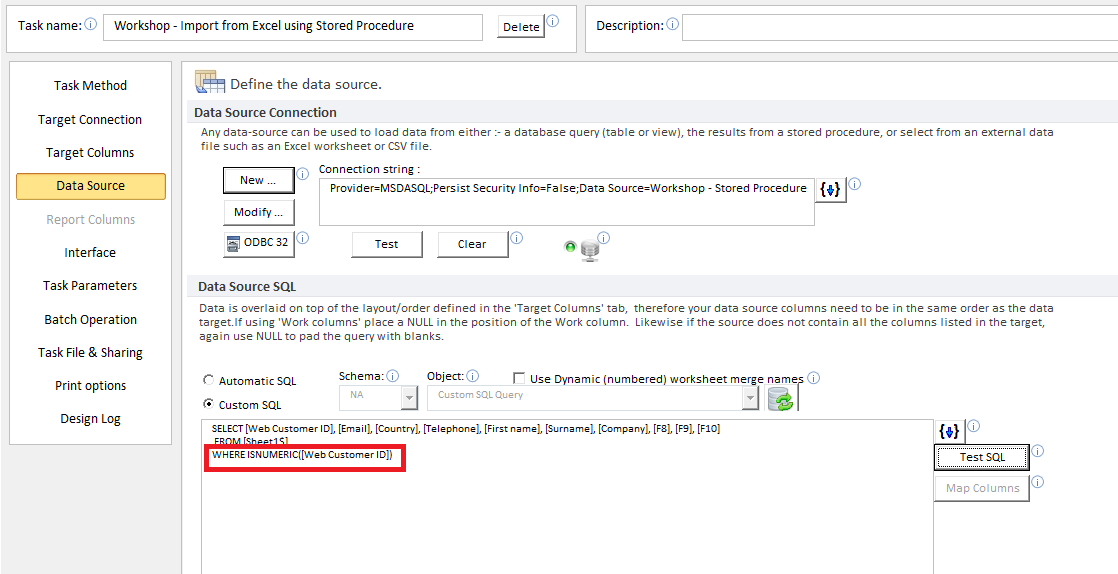 Validate, Import Excel data to SQL Server with a Stored Procedure