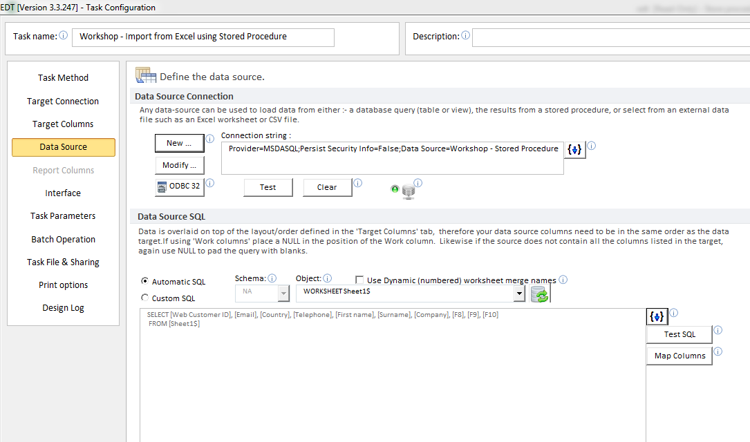Validate, Import Excel data to SQL Server with a Stored